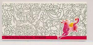 LO38776 Hong Kong dog lunar new year good booklet MNH