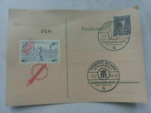 Raketenpost Rocket Mail Offenbach Frankfurt Europa 3.9.1964 Vignette geschnitten