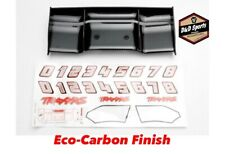 Traxxas 5446G Wing, Eco-Carbon Finish E-Revo / decal sheet