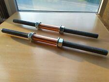 CUSTOM LENGTH Solid Metal Steel Dumbbell Bars Set Handles with Spinlocks for 1''