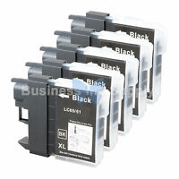 5 BLACK LC61 Ink for Brother MFC-J630W MFC-J615W MFC-J415W MFC-J410W MFC-J270W