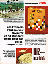 PUBLICITE ADVERTISING 064  1965  LUSTUCRU   riz incollable
