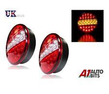2x 12v/24v LED indicatore di freno HAMBURGER Luci di coda rotonda Rimorchio Auto Furgone