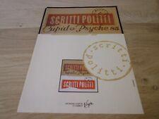 SCRITTI POLITTI - CUPID PSYCHE 1985  !!VINTAGE FRENCH PRESS ADVERT