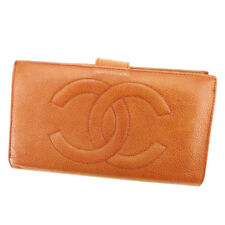 Chanel Wallet Purse Coin purse COCO Brown Woman unisex Authentic Used T3364
