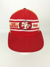 Vintage 80's NFL Football Trucker Snapback Cap Hat SAN FRANCISCO 49ERS Red Gold