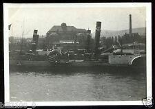 Allemagne .Mayence . le port . bateau à vapeur . 1924