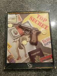 Top Secret spy RPG Boxed set with extras, TSR Role Playing Game of Espionage