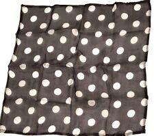 "12"" Inch BLACK & WHITE POLKA DOTS MAGIC SILK Scarf Handkerchief Magician Trick"