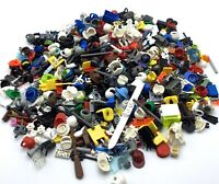 LEGO HUGE HALF POUND LOT OF MINIFIGURE ACCESSORIES WEAPONS HEADGEAR WEARABLES