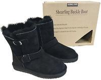 Women's Shearling Buckle Boot GENUINE Sheepskin Luxury Summer Winter Happy Fun