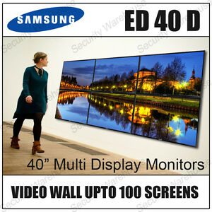 """SAMSUNG ED40D 40"""" MULTI DISPLAY HD COMMERCIAL LED MONITOR SCREEN VIDEO WALL TV"""