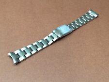 SOLID 20MM S/S OYSTER BAND BRACELET FLIP LOCK FOR ROLEX SUBMARINER