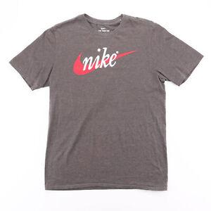 NIKE  Grey Logo Short Sleeve T-Shirt Mens M