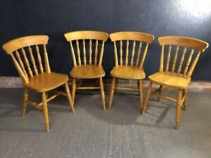 Farmhouse Pine Chairs Set Of 4 Dining Chairs