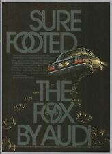 1974 AUDI FOX (Audi 80) - 1974 Vintage Automotive Print Ad