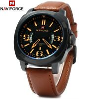 Montre Naviforce Militaire Homme Bracelet Cuir Date US ARMY Men watch PROMO