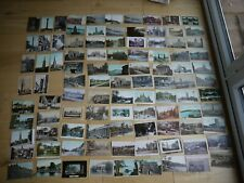 NICE EARLY COLLECTION OF 98 VINTAGE POSTCARDS ALL BRITISH MOST PRE 1917 !