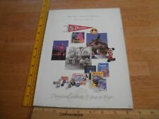 The Walt Disney Company 1989 Annual Report magazine for Stock holders Dollars
