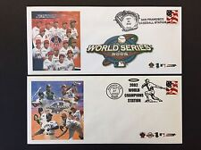 ANAHEIM ANGELS 2002 WORLD SERIES CHAMPIONS BASEBALL EVENT COVER LOT OF 2