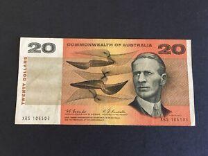 1967 $20 Coombs/Randal Last Prefix XBS ,SCARCEST $20 banknote F/gF,  CV=$1000!!!