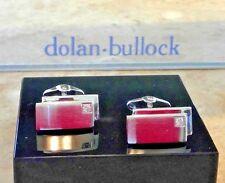 DOLAN BULLOCK  STERLING SILVER & DIAMOND CUFFLINKS USA MADE SAVE $300