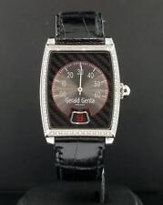 Gerald Genta Solo Retrograde Jump Hour Ref. 3671 Factory Diamonds Automatic