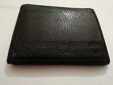 Genuine Designer Timberland Black Leather Bifold Id Popper Wallet