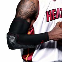Kuangmi Arm Compression Pad Sport Brace Elbow Sleeve Basketball Protect Support