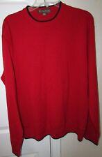 Tonino Lamborghini Merino Wool Red Sweater XL EUC