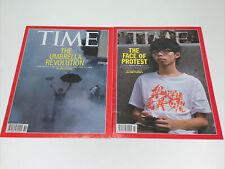 TIME Magazine: Hong Kong Umbrella Revolution/Joshua Wong (Oct. 2014) FREE US SHP