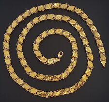 Türkisches Gold Altin Kaplama 81 cm Zincir Kette Goldkette 24 Karat GP Gelin