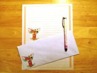 Deer Stationery 12 Sheets 6 Envelopes - Lined Stationary