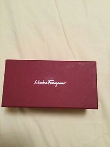 SALVATORE FERRAGAMO *EMPTY* Eyeglass Sunglasses Hard Red Box 6 3/4 x 3 2/4 x3 BN
