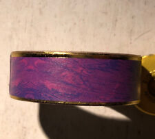 Washi Tape ~  deep purple with gold trim border 1.5cm