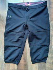 Girls Youth XL Under Armour Softball Pants Black