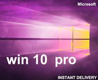 Microsoft Windows 10 Pro Professional 32/64bit Genuine License Key Product Code