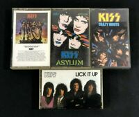 Kiss Lot Of 4 Cassettes Crazy Nights Asylum Destroyer Lick It Up Gene Simmons