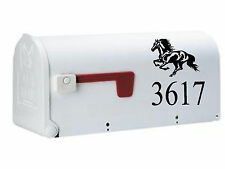 Horse & Mailbox Letters SET OF 2 Name Number & Street Name Custom Mailbox horses