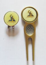 2 only Melbourne Storm Golf Ball Markers + Divot Tool & Hat Clip Set