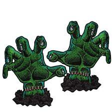 KREEPSVILLE 666 Horror Hands Pair Green Patch Iron Gothic