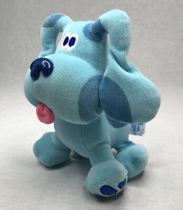 "VTG Blues Clues Eden Viacom 8"" Plush Blue Puppy Dog Stuffed Animal 90's Toy"