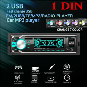 Bluetooth Handsfree Car Stereo MP3 Radio Player In-Dash Unit FM AUX SD USB 1Din