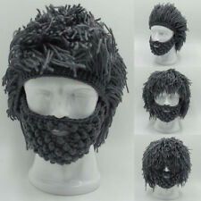 Herren Winter Warm Bart Hat+Mask Barbarian Looter Crochet Beanie Cap Cosplay FS