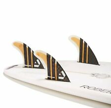 Dorsal Surfboard Fins Carbon Bamboo Thruster Set (3) Honeycomb FUT Base