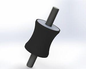 5-Pack: 35x40mm M10, Options, UK Made, Rubber Bobbin Anti Vibration Mount MM