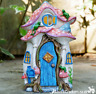 Resin OPENING DOOR FAIRY HOUSE garden ornament frogs decoration Pixie lover gift