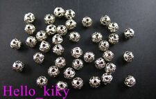 1000Pcs Nickel plated filigree spacer beads 4mm M298