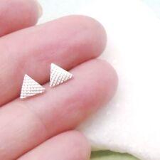 Dreieck Ecke Triangel Design Ohrringe Ohrstecker Stecker 925 Sterling Silber neu