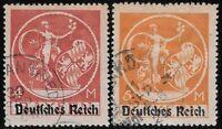 "Germany- Bavaria 1920 ""Deutches Reich"" Overprint, Scott #272-73, CV $16.50 dw893"
